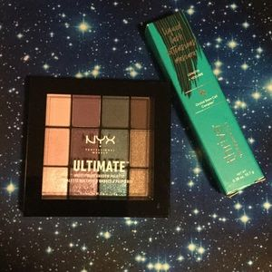 Thrive Mascara and NYX Eyeshadow Palette
